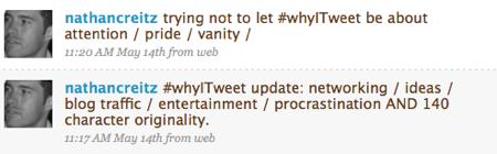 #whyitweet